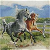 Гоблен - Буйни коне