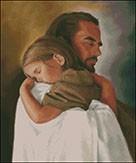 Гоблен - Иисус те обича